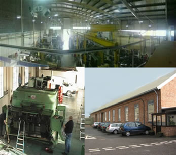 A collage of the factory facilities