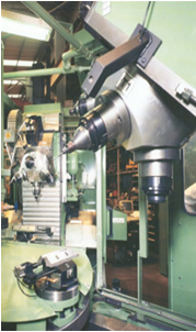 Three position rotary transfer machine